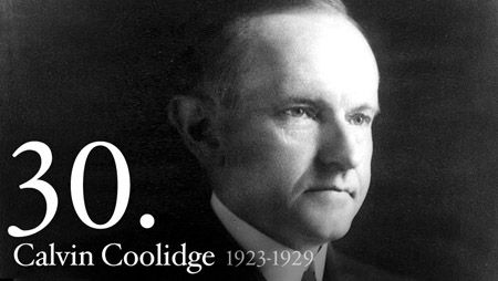 Calvin Coolidge - At 2:30 on the morning of August 3, 1923, while visiting in Vermont, Calvin Coolidge received word that he was President. By the light of a kerosene lamp, his father, who was a notary public, administered the oath of office as Coolidge placed his hand on the family Bible.