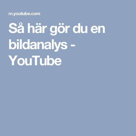 Så här gör du en bildanalys - YouTube