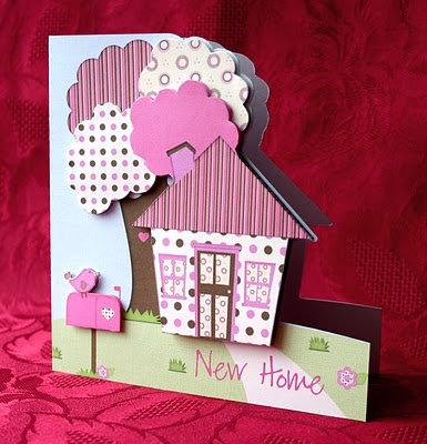 House & Trees card