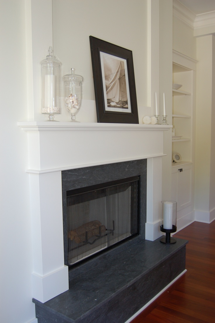 Black granite with white mantle