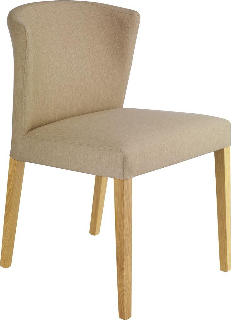 Valentina polstret spisestol brun tekstil i 100% bomull. Dimensjoner: D50 x H81 x B45cm, setehøyde: 48cm. Kr. 2535,-