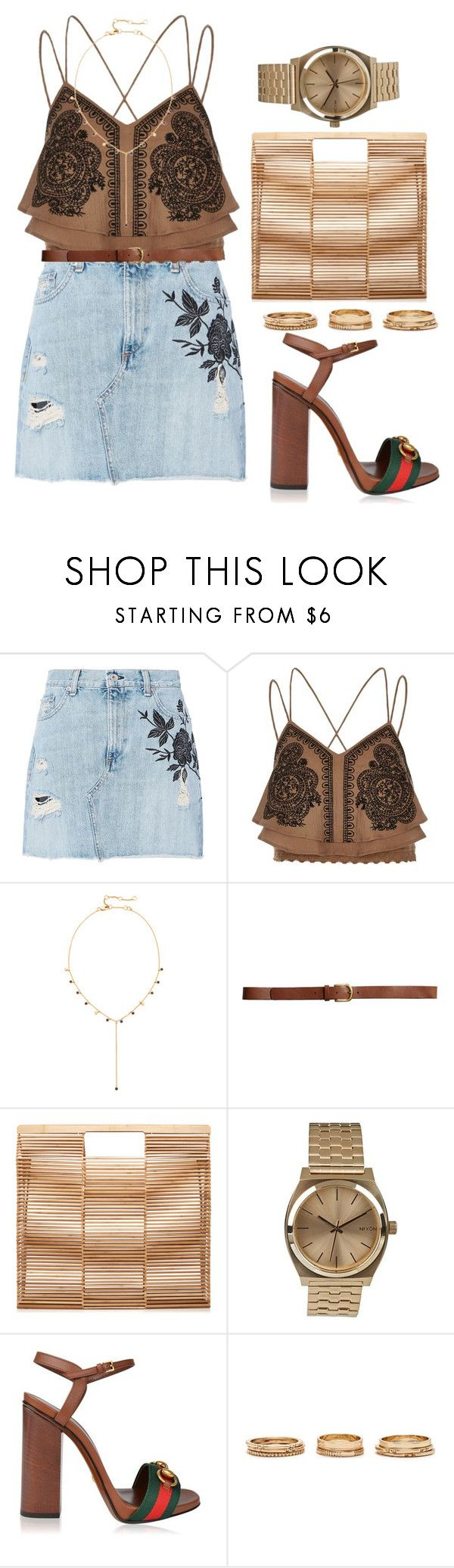 @tropicalvacation by melanie-pacheco on Polyvore featuring moda, River Island, rag & bone, Gucci, Cult Gaia, Nixon, Madewell, Forever 21, H&M and urbanstyle
