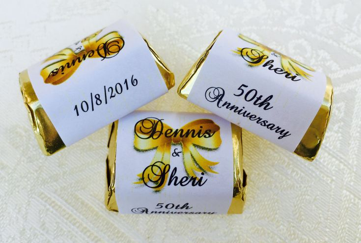 120 WEDDING ANNIVERSARY Themed wrappers/stickers/labels that fit your Hershey Nugget Chocolates (Personalized Favors) for any party/event! by PartyFavorsGalore on Etsy