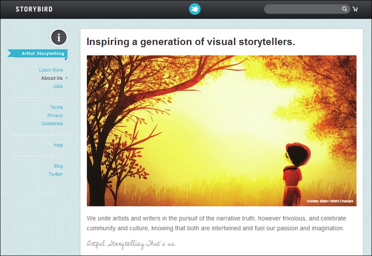 Storybird - Free online tool to create, read, and share visual stories. Amazing resource for teachers!  Your Words. Our Art. Amazing Stories.  Simple tools help you build books in minutes. Let the art inspire and surprise you as you write.