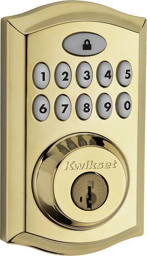 Kwikset - Smartcode 914 Touchpad Deadbolt with ZigBee - Lifetime Polished Brass