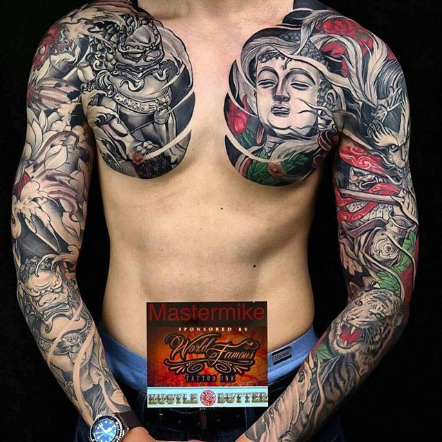 Tatto Body Inside Tattoo Ideas By Kerry Mitchell: Fudog X Buddha X Monkey King By @mastermike_inkfiendart