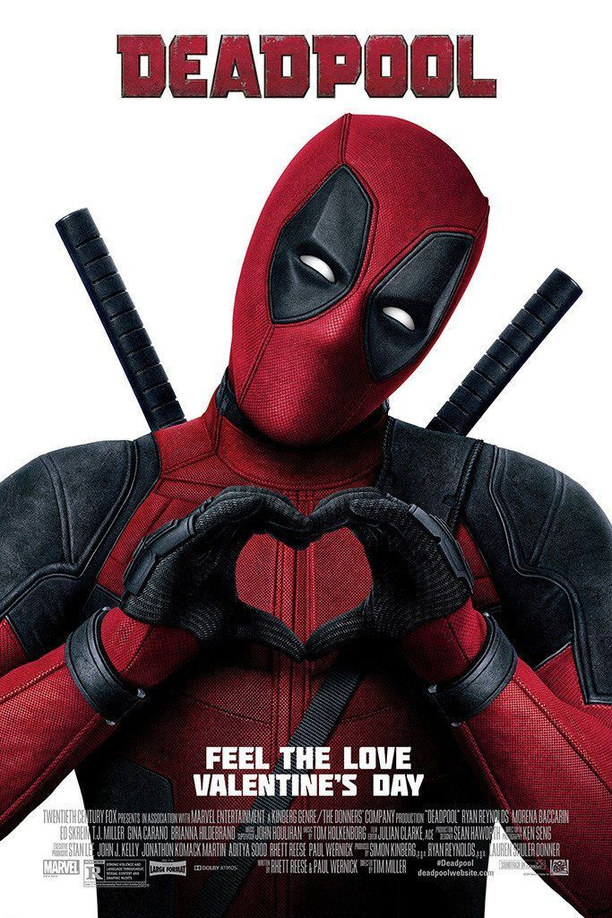 Deadpool Valentine S Day Poster Deadpool 2 2018 Movies Movie
