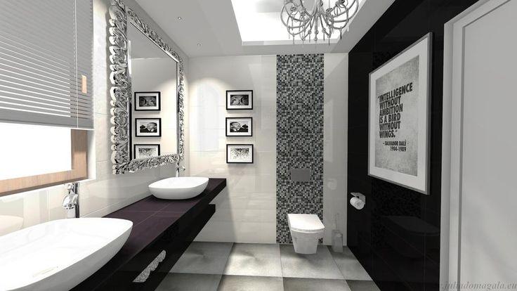 płytki łazienkowe mozaika czarno biała - Szukaj w Google