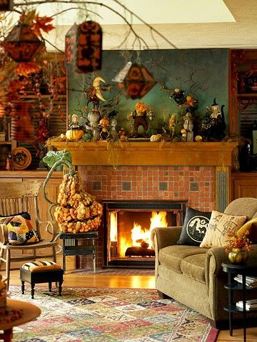Best 25 Halloween living room ideas on Pinterest Fall fireplace