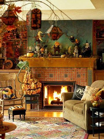 Best 25 Halloween Living Room Ideas On Pinterest Fall Fireplace