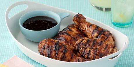 Chicken or Steak with Balsamic BBQ Sauce