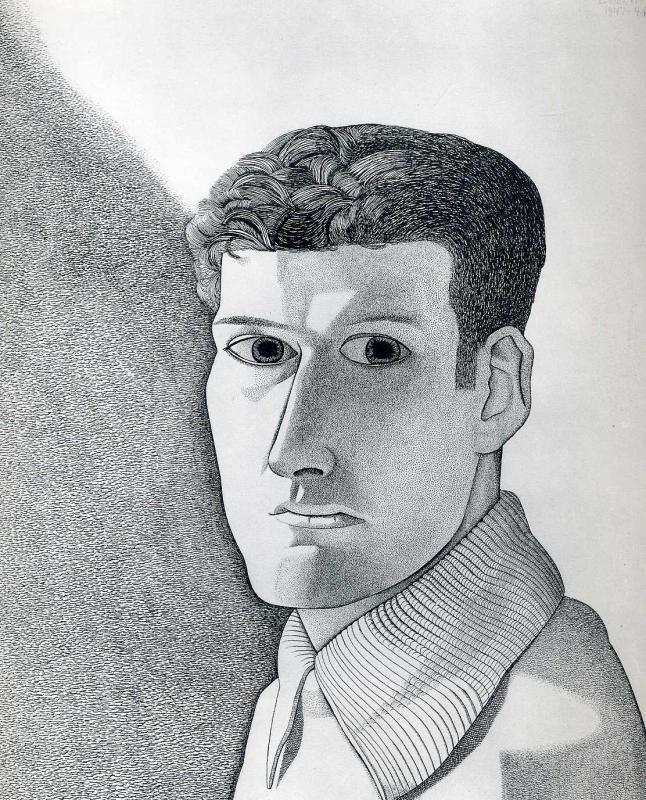 Художник - Люсьен Фрейд, картина «Мужчина ночью (автопортрет)»