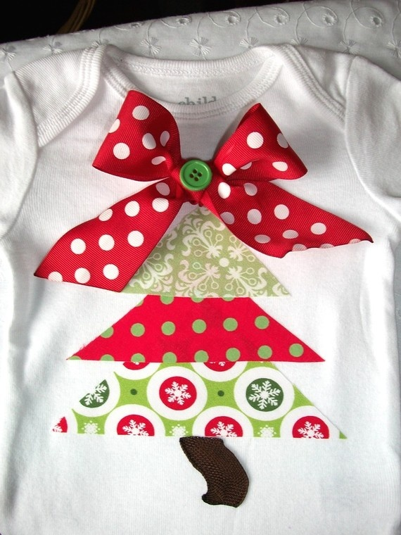 Christmas tree shirt - worked well. I just super-glued and it made it through the season. The girls outgrow their clothes year by year so no need to sew it!