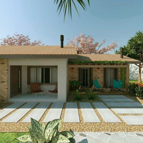 Reforma residencial - Casa de campo: Casas rústicas por Cíntia Schirmer   Estúdio de Arquitetura e Urbanismo #casasrusticasdecampo