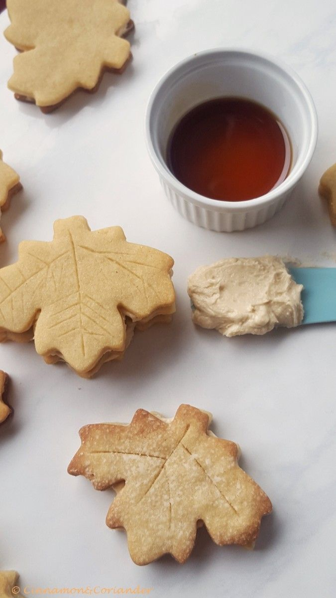 Maple Leaf Sandwich Cookies!! These Maple Cream Cookies are maplelicious and a real Canadian delicacy!
