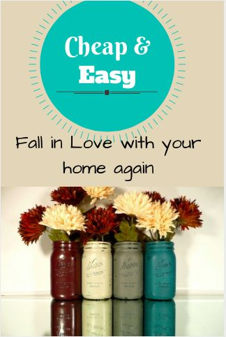 Love these colors!! Cheap and Easy Decoration Ideas to Fall in Love with Your Home Again