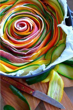 Tarte aux légumes de printemps ....Un dimanche à la campagne - Quatre Saisons Au Jardin