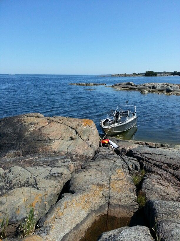 Norrtälje archipelago in Stockholm with sun, swimming and our boat Alukin 650 DP