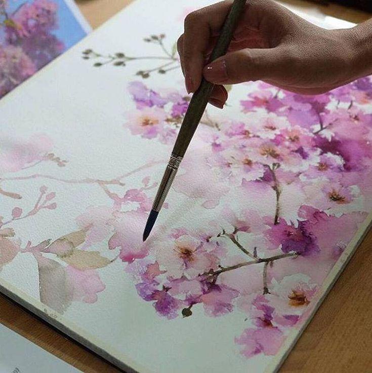 Watercolorist: @phatcharaphan_artist #waterblog #акварель #aquarelle…