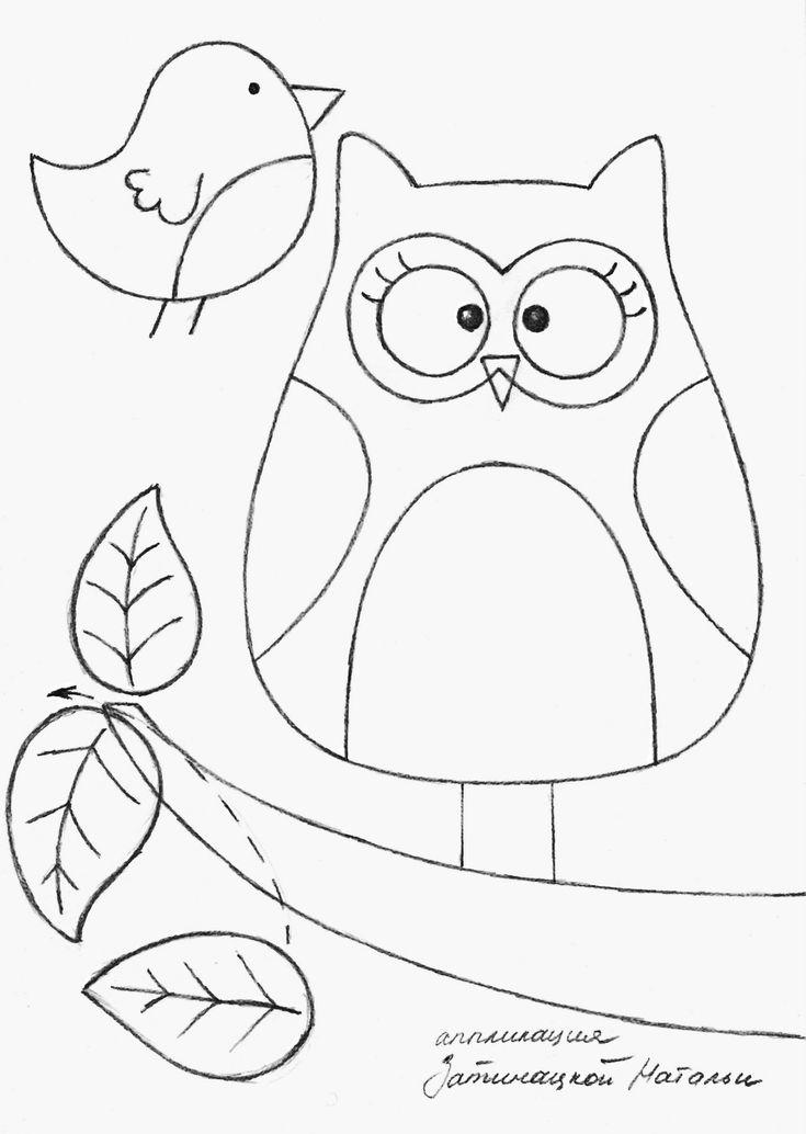 owl and bird template - bjl