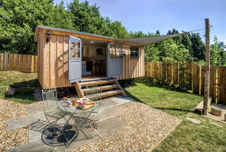 Personalize a ready-made shed, add a pebble patio and you have a space all for yourself!