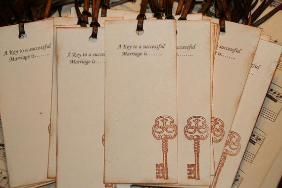 Wedding Wish Tags  Qty 75  A Key to a by GreenAcresCottage on Etsy