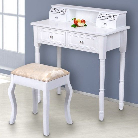 Schminktisch Mit Ornament Und Hocker | Lovely Dressing Table With Ornament  And Stool | Buy @