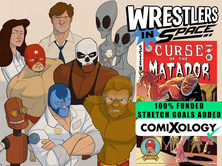 Wrestlers In Space is an amusing and out of this world comic about four Luchadores lost in space trying to find their way back home