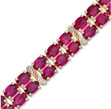 red gold ruby supper bracelet vg diamonds y item kt w ea full tennis l