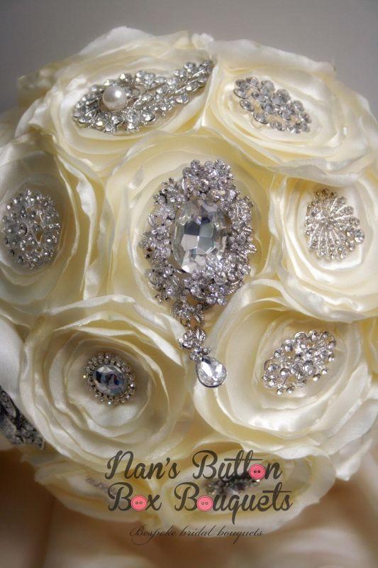 Gallery - ivory brooch bouquet button wedding bouquets, custom & bespoke wedding bouquets, vintage wedding bouquets, themed wedding bouquets, unique centrepieces, buttonholes, sydney australia