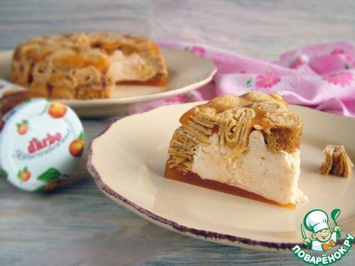 Низкокалорийный абрикосовый десерт с конфитюром - кулинарный рецепт
