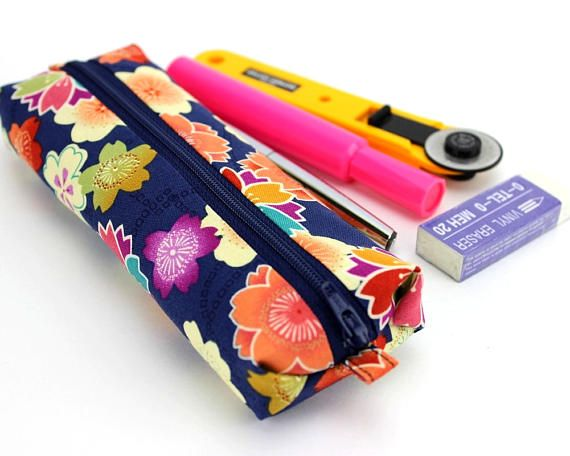 Back To School Flat Pencil Case Gift For Her Cherry