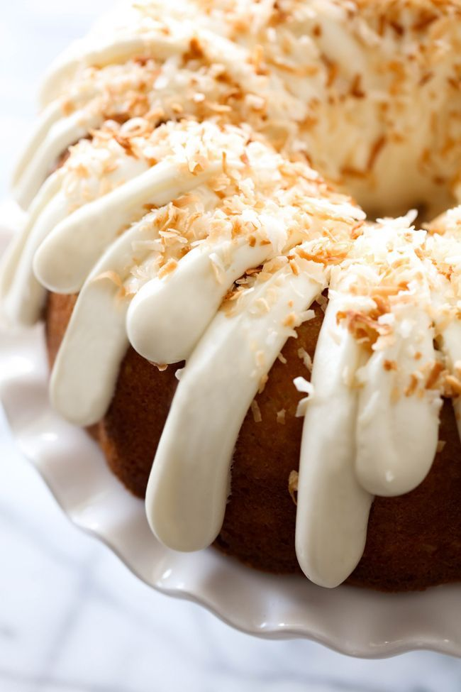 Coconut Bundt Cake... This is an incredibly moist cake loaded with coconut…