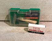 Vintage Gem Shaving Kit Razor and Gillette Blades Precision Products, Patent Pending Made in the USA