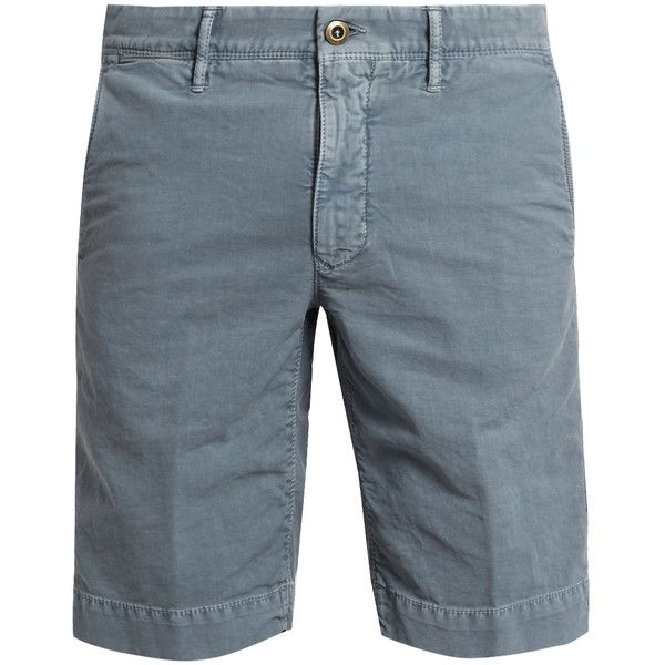 Incotex Slim-fit cotton-blend chino shorts (61 KWD) ❤ liked on Polyvore featuring men's fashion, men's clothing, men's shorts, mens blue shorts, mens blue chino shorts, slim fit mens clothing, mens chino shorts and mens slim fit shorts