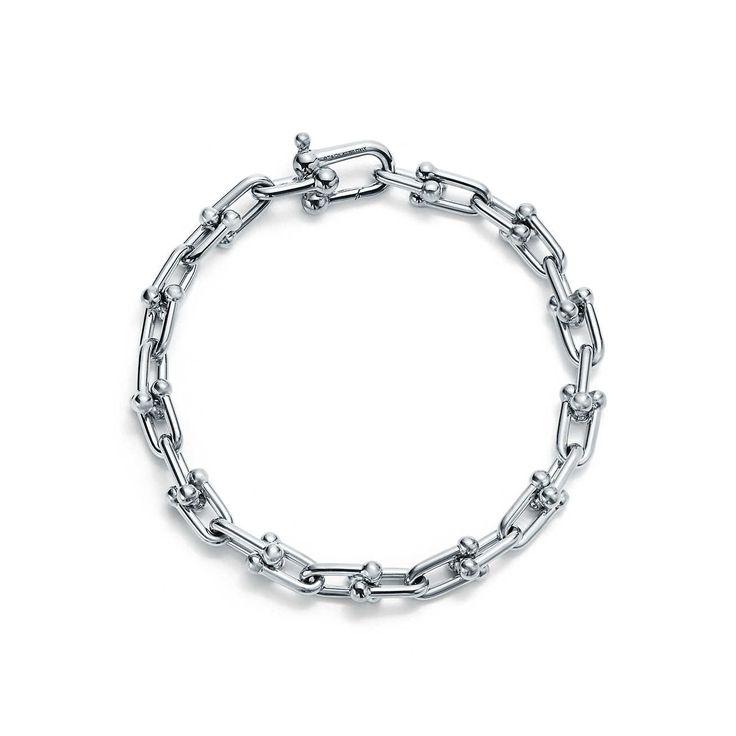Tiffany HardWear link bracelet in sterling silver, medium.