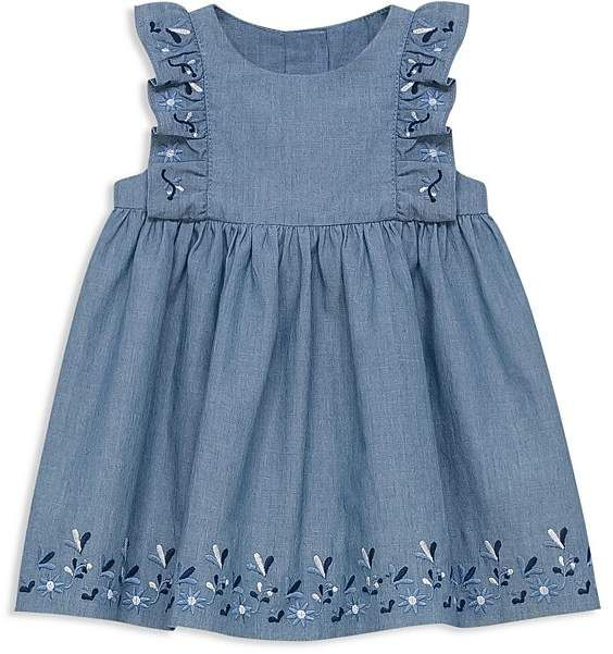 Tartine et Chocolat Girls' Embroidered Chambray Dress - Baby baby girl | outfits | clothes | summer | spring | Easter | birthday | fashion | style | cute | afflink