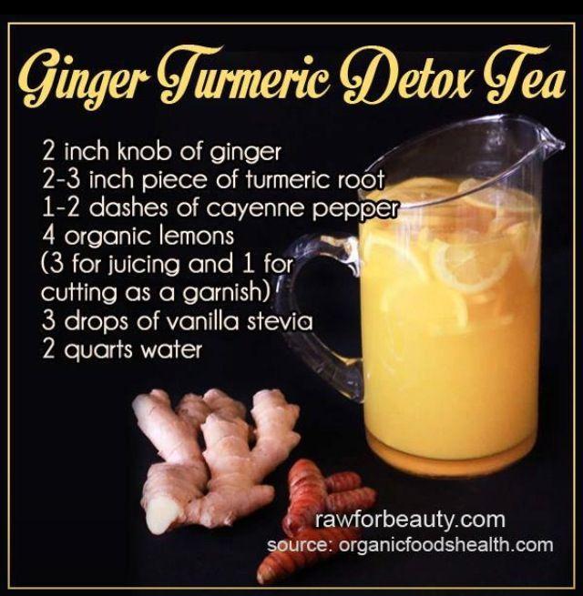 Turmeric detox tea and it also has anti inflammatory qualities