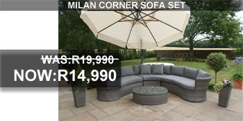 Milan Corner Sofa Set on sales