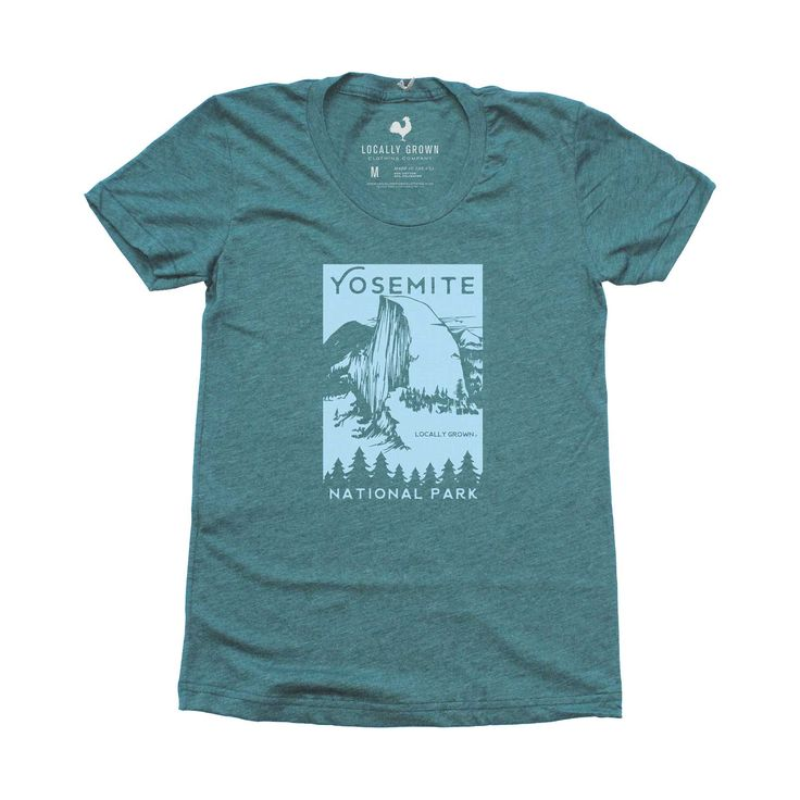 Celebrate the National Parks Centennial with our limited edition Yosemite National Parks print. Women's super soft vintage tee. Made in the USA.