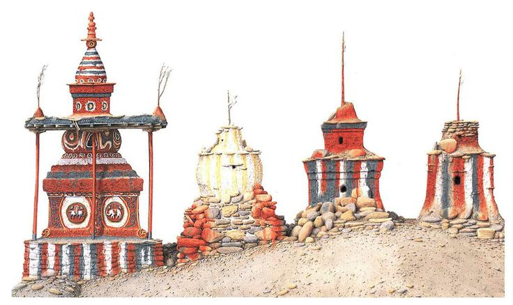 Robert Powell. Chorten and Lhato, Tangbe 81 x 127 cm