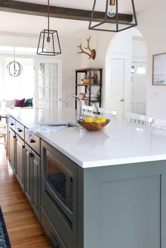 Earthy Coastal White Kitchen Reveal Kitchen Design Kitchen Remodel New Kitchen Cabinets