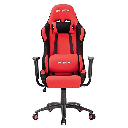 LIFE CARVER High Back Fabric Racing Sport Gaming Chair Recliner Executive Swivel Desk Armchair Computer Home Office Chair