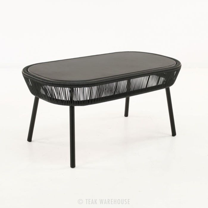 Luxe Outdoor Coffee Table Black 0 Outdoor Coffee Tables