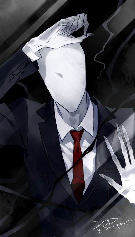 Slenderman locked in screen wallpaper