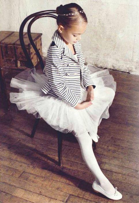 a little ballerina in a striped blazer!? cuteness overload