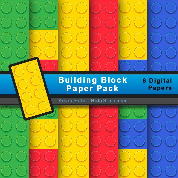 FREE LEGO Building Block Digital Paper Pack