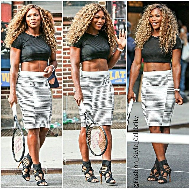 #serenawilliams #black #croptop #pink #plaidshirt #plaid #flats #summer #fashion #style #celebrity #football #victoriassecret #angel #beautiful #gorgeous #trend #trendy #chic #ootd #outfit #mirandakerr #vs #brasil #stylish #accessories #heels #shoes #model #fall... - Celebrity Fashion