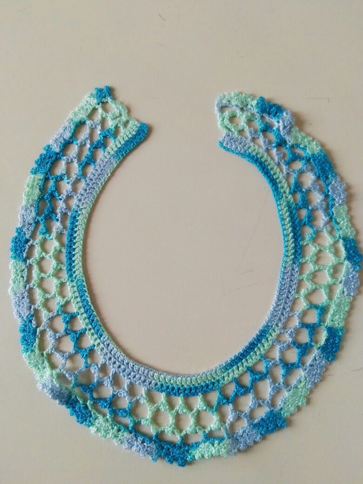Cuello en crochet creado por Tiernos Encantos.