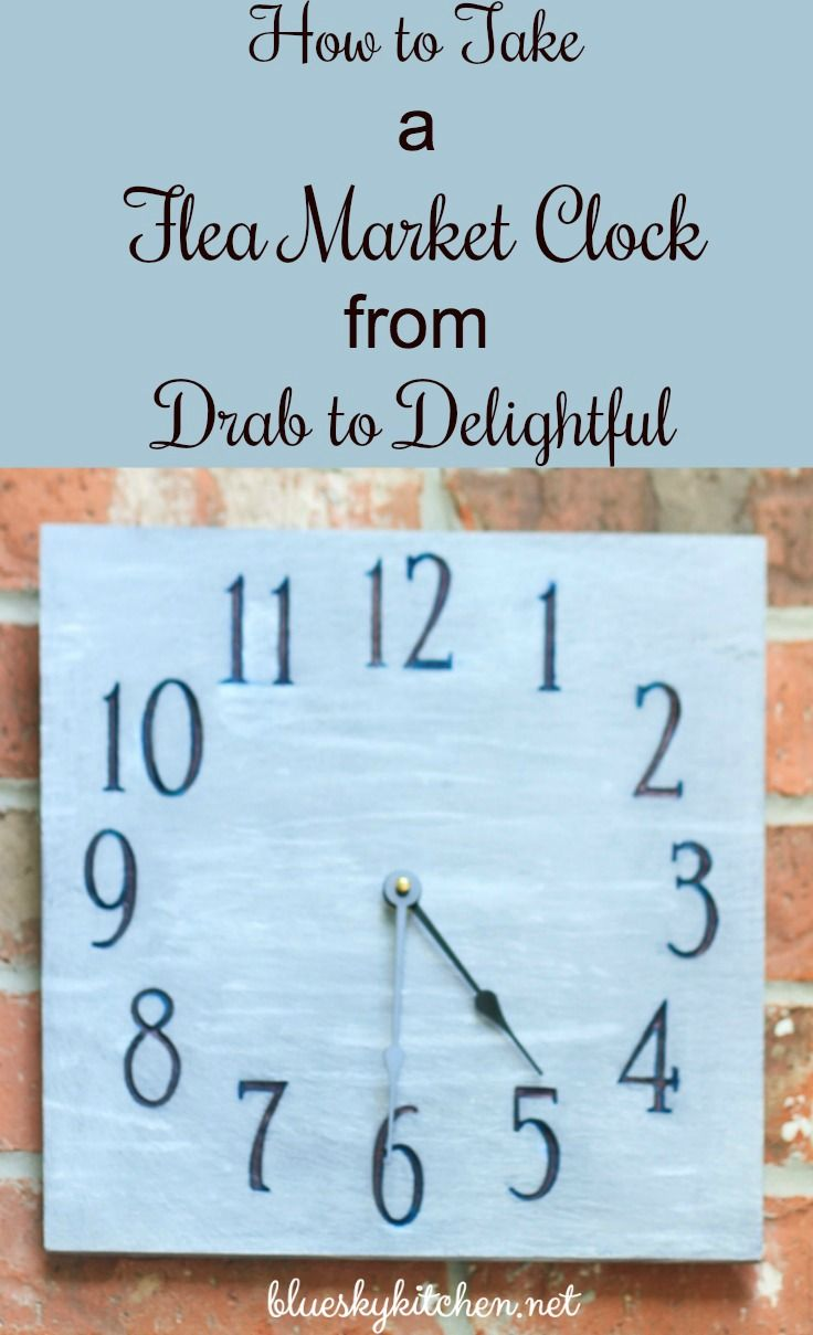 How to Take a flea market clock from Drab to Delightful. Paint, markers and a battery can transform a $5 clock to practical use for your patio.